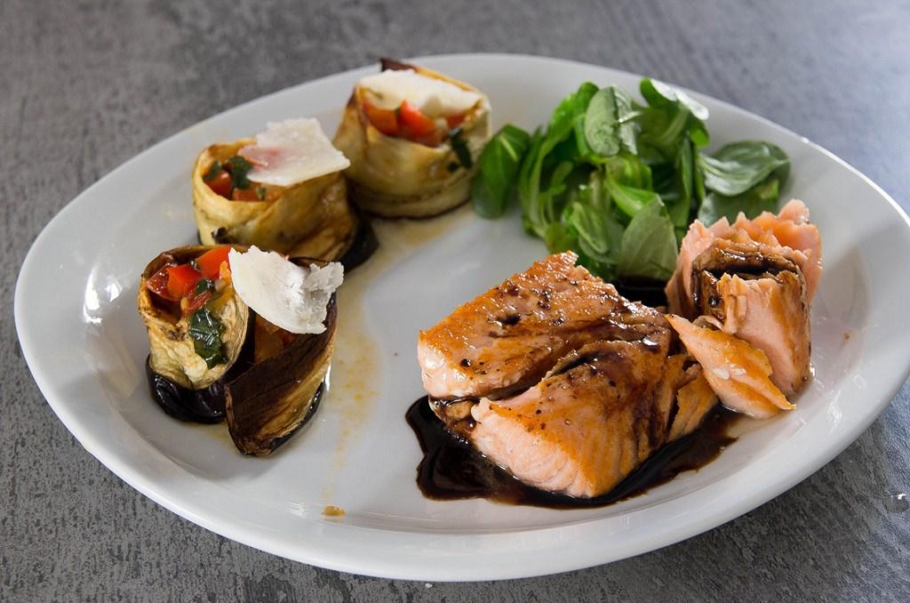 mi cuit saumon balsamique