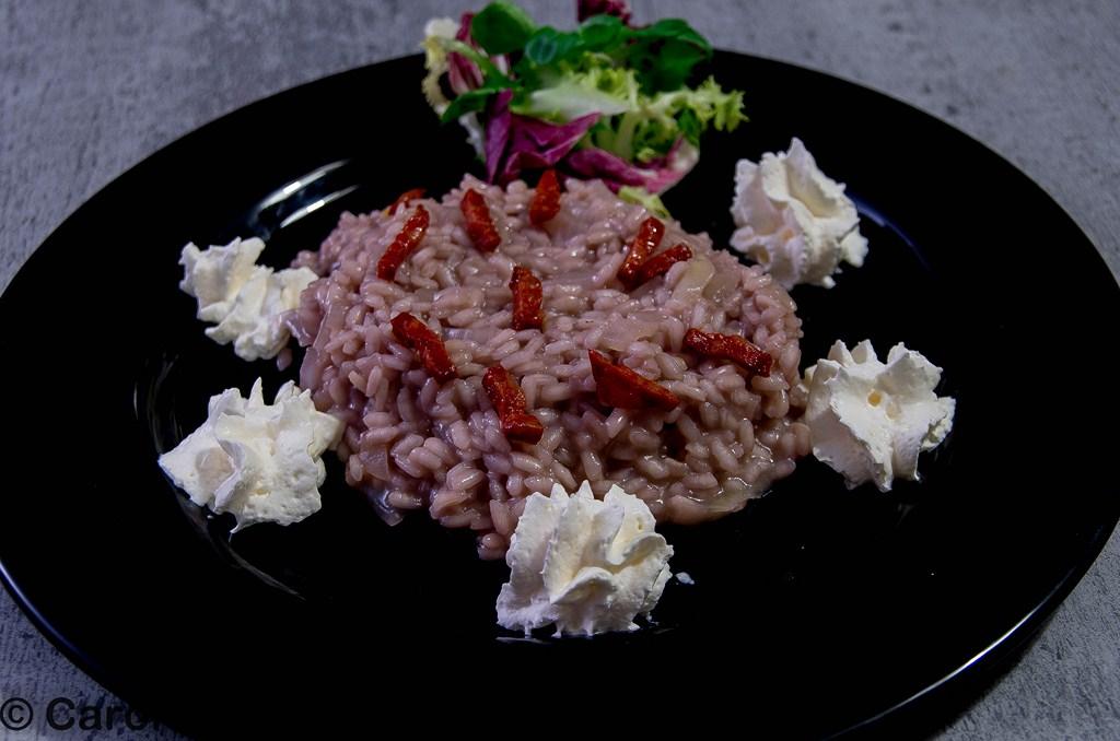 risotto rouge chorizo