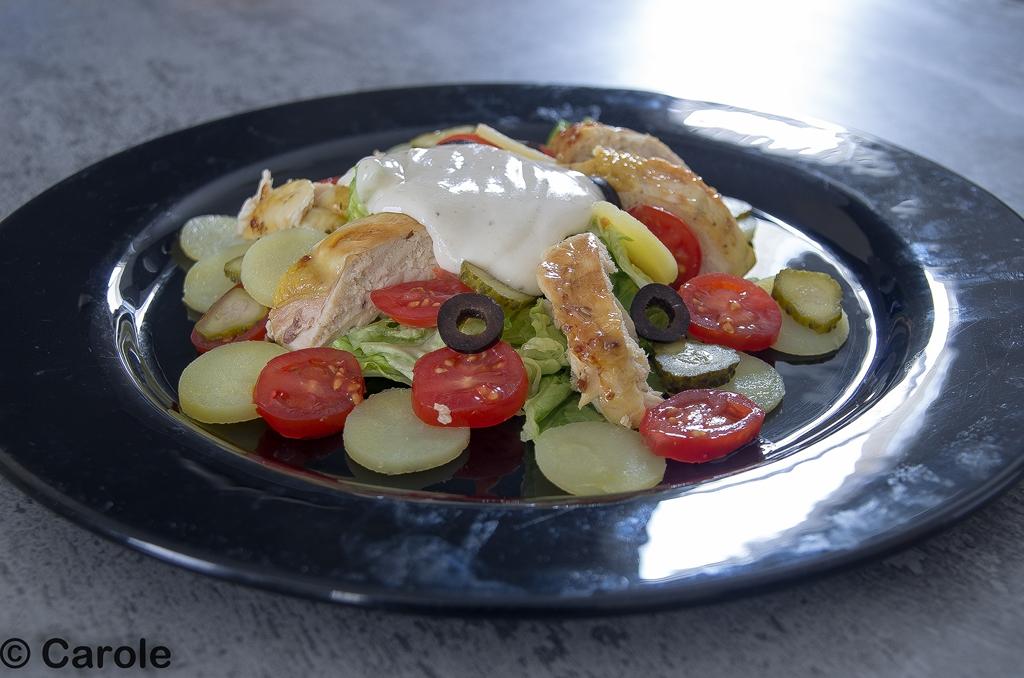 salade poulet roti