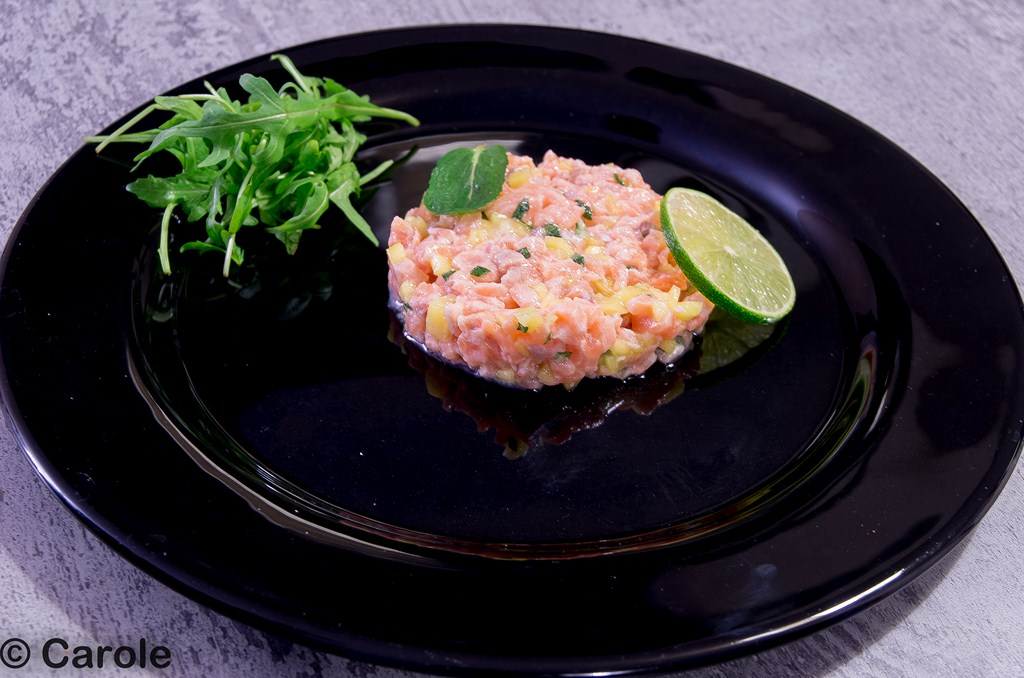 tartare mangue saumon