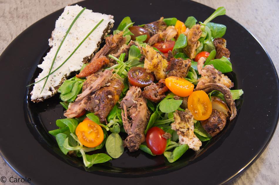 Poulet r ti farci la tapenade basilic et tomates - Cuisiner un poulet roti ...